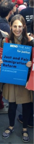 Julie Friedlander at May Day Immigration Rally NYC