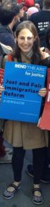 Julie Friedlander at May Day Immigration Rally NYC