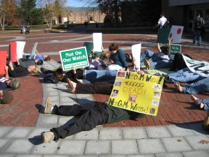 Darfur Die In-in front of the UConn Library 2007