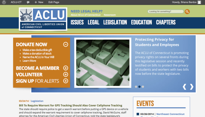 ACLU website updated