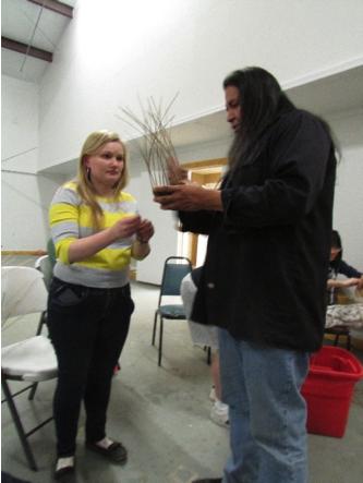 Learning basket weaving-Human Rights Alternative Spring Break
