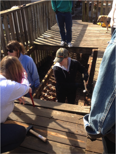 Tearing out the old deck-Human Rights Alternative Spring Break